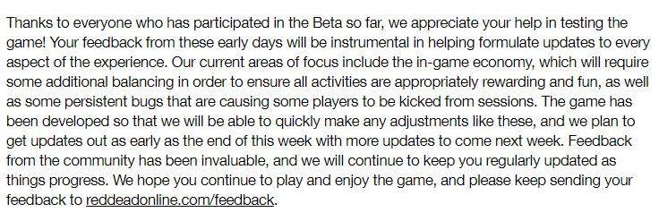 Red Dead Online İçin Rockstar Games Açıklama Yaptı