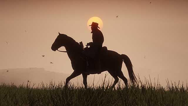 Red Dead Redemption 2'de Atı Öldüğü İçin Ağlayan Kovboy
