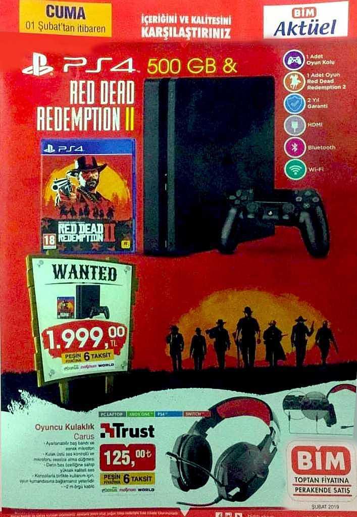 BİM, Uygun Fiyat'a PlayStation 4 ve RDR 2'yi Satacak